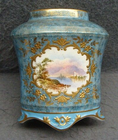 19th Century English Coalport Porcelain Scenic Cabinet Vase