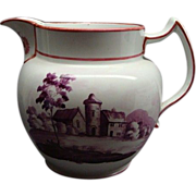 Rare Staffordshire Wedding or Marriage Pitcher John & Ann Hulme Dated 1822