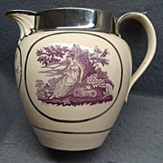 Rare Staffordshire Wedding or Marriage Pitcher Thomas & Sarah Cottrel Dated 1813