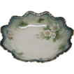 10&quot; R S Prussia Bowl With White Christmas Flowers Dogwood And Pine