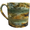 Rare Staffordshire Marbleized Pearlware Mug With Turnings Ca 1815