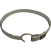 Heavy Vintage Sterling Silver Stirrup Bracelet