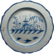 "Rare 16 1/2""  English Decorated Leeds Pearlware Charger Ca 1810"