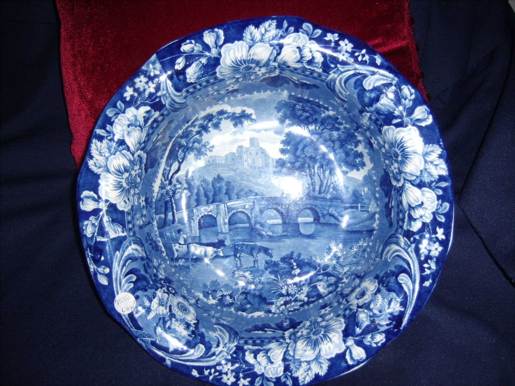 Large Staffordshire Bowl with Cows