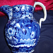 Dark Blue Staffordshire Jug