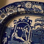 "Staffordshire Platter,  ""The Philosopher""  England"