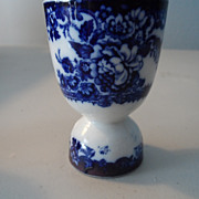 Flow Blue double egg cup