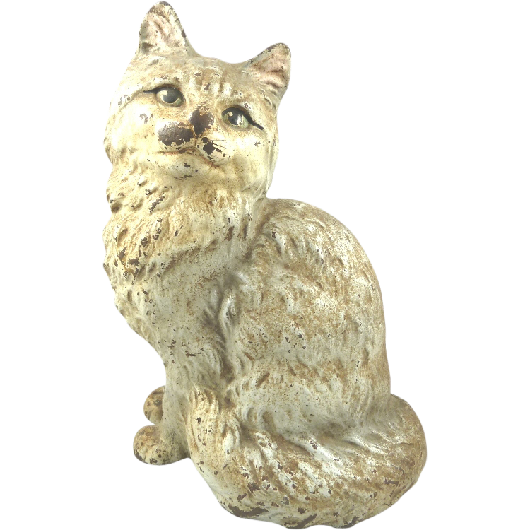 Antique Hubley Cast Iron Cat Door Stop From Yorkcottage On Ruby Lane