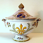 SALE 18th Century Signed French Faience Tureen, Circa 1760