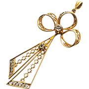 Light and Lacy Edwardian Bow Pendant