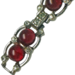 Ruby Red Art Deco Paste Bracelet
