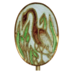 Vintage Crane or Heron in Marsh Stickpin