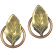 Autumn Leaves Screw-back Earrings, Gold Filled