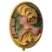 Edwardian Gibson Girl Stickpin