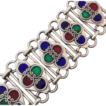 Vintage Multi-Colored Sterling Silver Enamel Bracelet