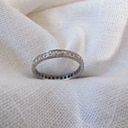 Circa 1920 Diamond and Platinum Eternity Band