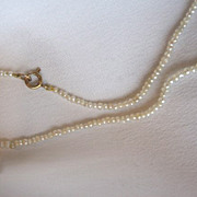 SALE Victorian Seed Pearl Necklace