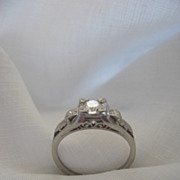 Circa 1950's Diamond and Platinum engagement ring