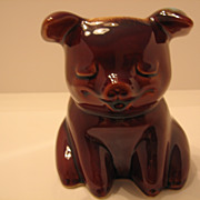 SALE Hull, Pottery, Seated Corky Pig,  Piggy Bank