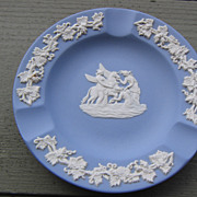 SALE Wedgwood, Blue Jasperware Pegasus Ashtray