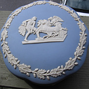 SALE Wedgwood, Blue Jasperware Large Dresser Bowl