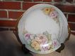 Thomas- Bavaria Handpainted Gilded Plate By Monaghan with Pink Roses