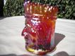 Red Carnival Glass Toothpick- Indian Chief-Joseph Sinclair -Manufacturer