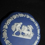 Wedgwood Jasperware Powder Jar Blue and White
