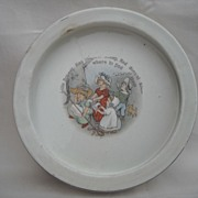Roseville -Nursery-Baby Plate -1912- Little Bo Peep -7  3/4 by 1  1/2 ...