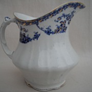 Flow Blue Earthenware Creamer made by Empire Works 1896-1912 Stoke on Trent -England