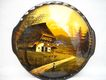 Schramberg German Majolica Plate Absolutely Wonderful with Scene From Germany
