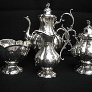 Beautiful~ Ornate ~Reed and Barton~Victorian Style~4 Piece Tea Set Winthrop~Only Waste Bowl ha