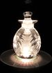 Fabulous Crystal Perfume Bottle Hand Cut with Pineapples Cut into the Bottle