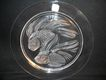 Lalique Plate 1975 Relief 2 Fish-Very Elegant--Excellent Condition