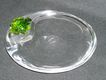 Gorgeous  Baccarat Art Glass Frog Bowl Crystal With Green Frog