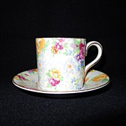 Lord Nelson Ware ~Rosetime~Chintz~Demi Cup 2 inches High,2 inches wide, saucer 4 inches!
