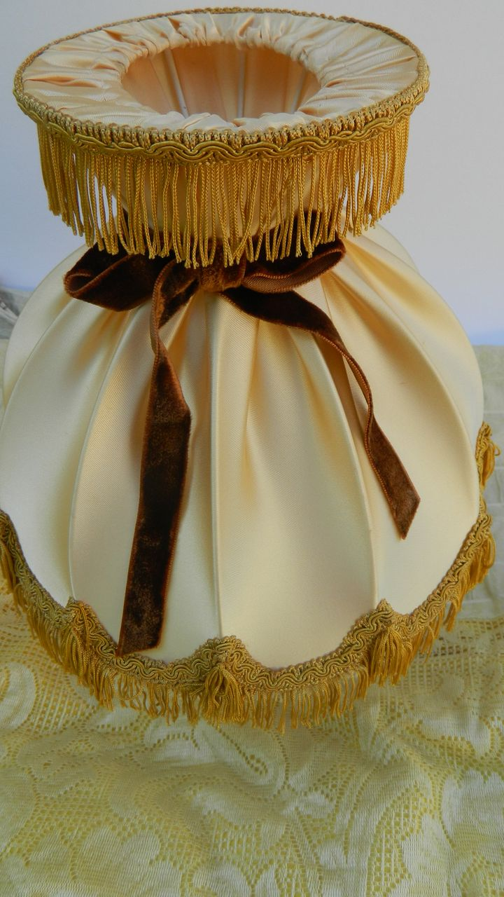 Vintage French Satin Lampshade