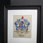 American Heraldic Watercolor from the Late 19th Century