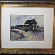 A Rockport, Massachusetts Watercolor by Olga I. Sears