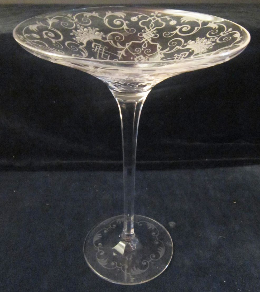 An American Cut Glass Comport signed Sinclair