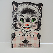 Kitty Cat Dime Holder Bank Advertising