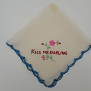 "Scottish Silk Hankie ""Kiss me Daeling"""