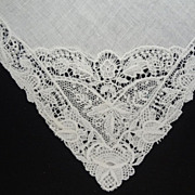 Lace Wedding Bride Hankie Ornate Cutwork