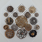 17 Openwork Metal Buttons Antique and Vintage