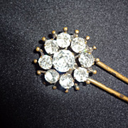 Victorian Hair Pin Bun Stick Jeweled
