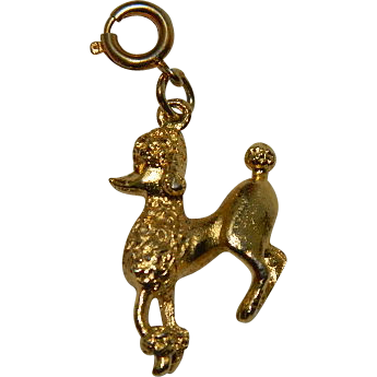 monet gold tone poodle charm 1968 from