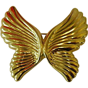 SALE Free Shipping! Lovely Vintage Art Nouveau Style Butterfly Brooch,