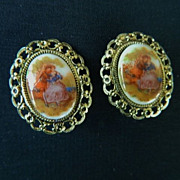 "REDUCED Victorian Revival ""Limoges"" Earrings"