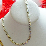 SALE Simple Beautiful 14kt White Gold Plated Liquid Chain Bracelet