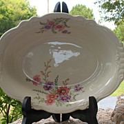 "SALE Homer Laughlin ""Virginia Rose"" Serving Bowl"